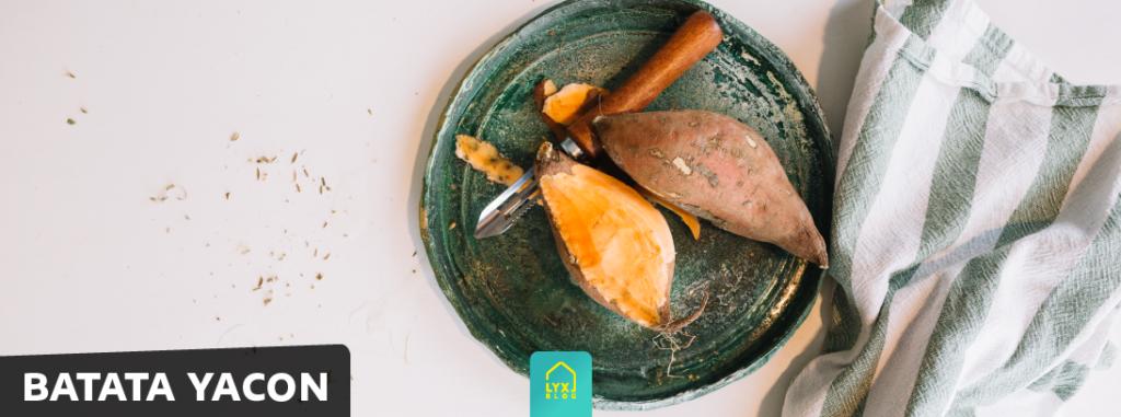 alimentação saudável batata yacon