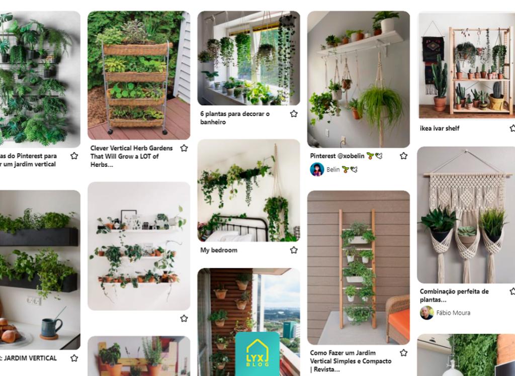 Jardim vertical com plantas artificiais